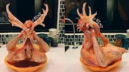 """Được mẹ nhờ """"ra chéo chân con gà để cúng"""", cô gái liền mang đến một cái kết hú hồn đến mức rụng tim sau khi nhìn thành phẩm"""