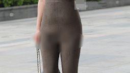 Chị em muốn mặc jumpsuit để khoe dáng thì đừng gây phản cảm như cô gái này...