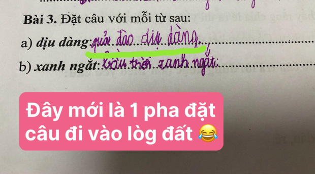 Bài tập tiếng Việt yêu cầu học sinh viết lời đáp, cậu nhóc chỉ trả lời 1 chữ duy nhất khiến dân tình ôm bụng cười còn cô giáo