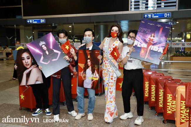 Khánh Vân đeo khẩu trang hình cờ Việt Nam, mang 16 vali hành lý lên đường sang Mỹ thi Hoa hậu Hoàn vũ 2020 - Ảnh 8.