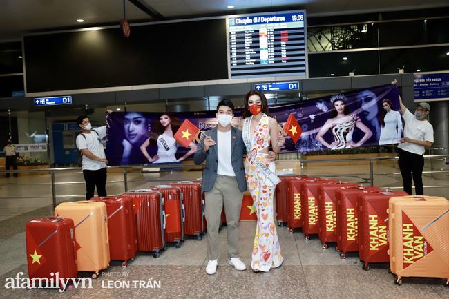 Khánh Vân đeo khẩu trang hình cờ Việt Nam, mang 16 vali hành lý lên đường sang Mỹ thi Hoa hậu Hoàn vũ 2020 - Ảnh 6.