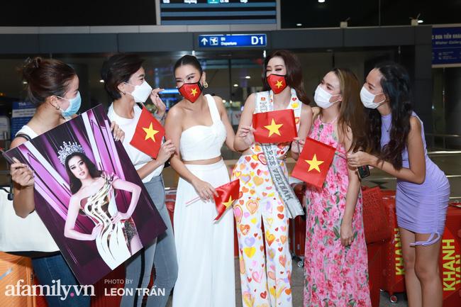 Khánh Vân đeo khẩu trang hình cờ Việt Nam, mang 16 vali hành lý lên đường sang Mỹ thi Hoa hậu Hoàn vũ 2020 - Ảnh 7.