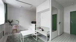 Căn hộ 15m² tối giản tạo sức hút bằng cách phối màu đối lập, hiện đại
