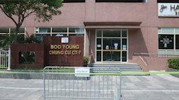 Hà Nội: Căng dây kín, phong tỏa tạm chung cư Booyoung nơi có ca dương tính SARS-CoV-2