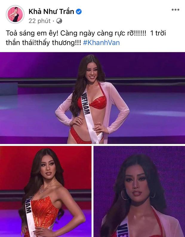 Khánh Vân có chia sẻ đầu tiên sau Bán kết Miss Universe 2020, nói 1 câu mà dàn sao Vbiz đồng loạt trầm trồ và động viên - Ảnh 9.
