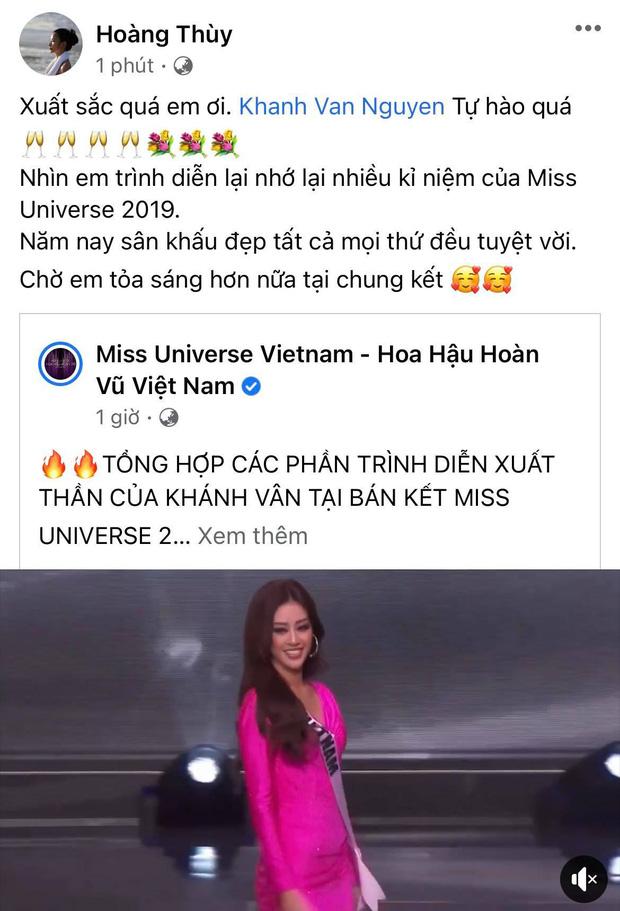 Khánh Vân có chia sẻ đầu tiên sau Bán kết Miss Universe 2020, nói 1 câu mà dàn sao Vbiz đồng loạt trầm trồ và động viên - Ảnh 4.