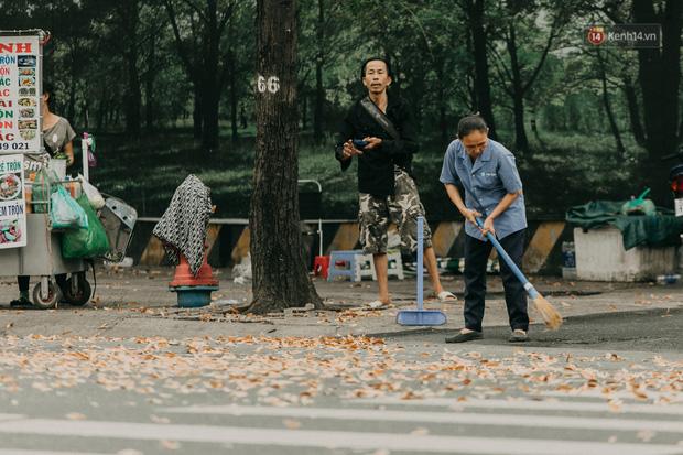 Sài Gòn mùa hoa dầu bay thống trị khắp phố: Giới trẻ check-in đẹp thổn thức, nhưng cô chú lao công chắc cực lắm à nghen! - Ảnh 10.