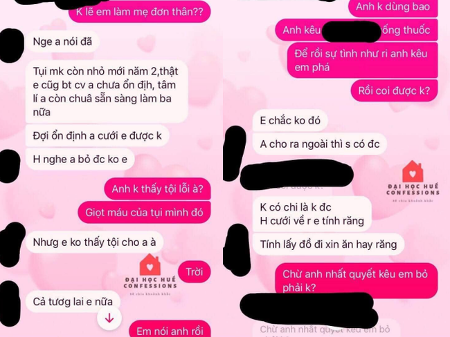 """Phốt """"căng"""" của nữ sinh viên năm 2: Sống thử 7 tháng dính bầu, báo tin cho bạn trai thì nhận về những lời lẽ không thể tin! - Ảnh 3."""