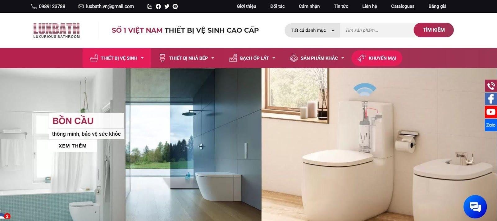 Website luxbath.vn