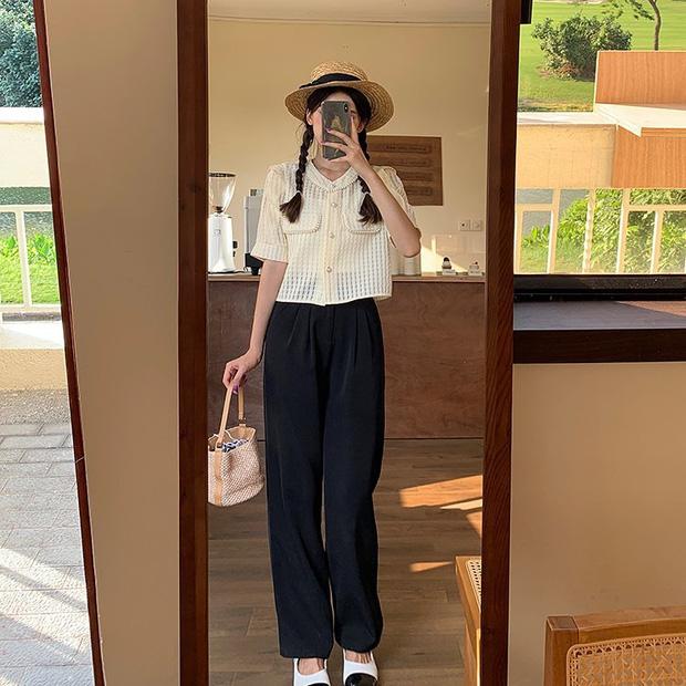 Gái Hàn có 8 cách mix đồ với quần đen, mỗi ngày diện một kiểu đảm bảo không sợ mang tiếng nhạt nhẽo! - Ảnh 8.