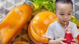 """Học công thức làm """"500"""" loại nước ép trái cây cho bé uống mỗi ngày của mẹ đảm 9x, vừa giải khát vừa tốt đủ đường"""