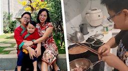 """Nữ giám đốc ở Hà Nội nhàn tênh vì """"tôn chỉ thép"""" trong việc dạy con: Trai hay gái đều phải xuống bếp, bố mẹ đi vắng con biết cách tự no bụng"""