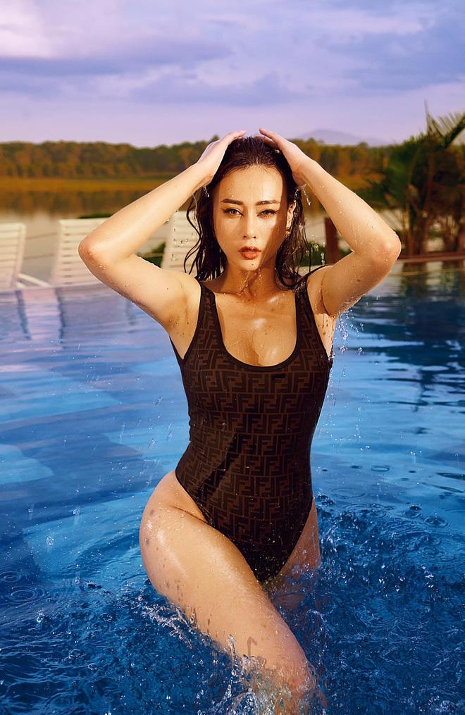 Phương Oanh đăng ảnh bikini táo bạo, khoe cân nặng hiện tại khiến nhiều người bất ngờ - Ảnh 4.