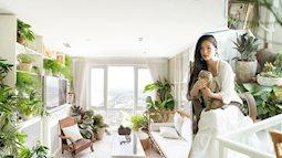 """""""Rừng cây"""" xanh mát trong căn hộ có view sông Hồng của nữ thiết kế ở Hà Nội"""