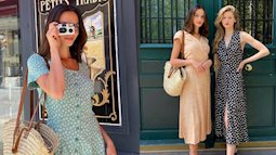 Kiểu váy được gái Pháp mặc nhiều không kém gì váy quấn, diện lên đẹp long lanh và ghi điểm tinh tế