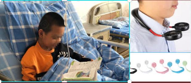 Bé trai 7 tuổi bị liệt mặt sau khi đeo quạt làm mát đeo cổ, hãy cẩn trọng với các phương pháp hạ nhiệt mùa hè - Ảnh 1.