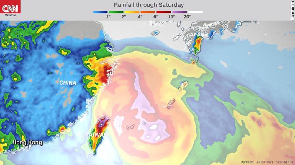Tin xấu cho Trung Quốc: Lũ lụt chưa dứt, bão cực mạnh lại đến; Những trận mưa phá vỡ kỷ lục lịch sử 60 năm - Ảnh 3.
