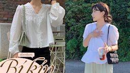 12 cách diện áo blouse trắng chuẩn sành điệu của gái Hàn, chị em ghim hết để không thiếu ý tưởng mặc đẹp