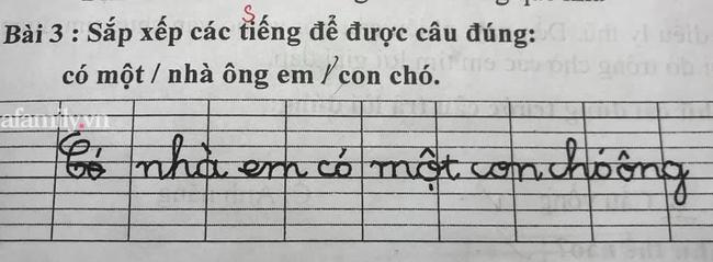 Thêm một bài tập tiếng Việt của học sinh khiến dân tình đọc xong sợ xanh mặt: Kiểu này bị ông đuổi ra khỏi nhà cũng còn nhẹ! - Ảnh 1.