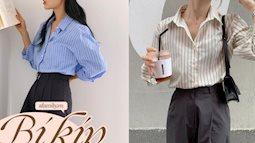 Kiểu áo sơ mi đang hot hơn cả sơ mi trắng: Chỉ phối đồ đơn giản thôi cũng rất thanh lịch, xịn đẹp