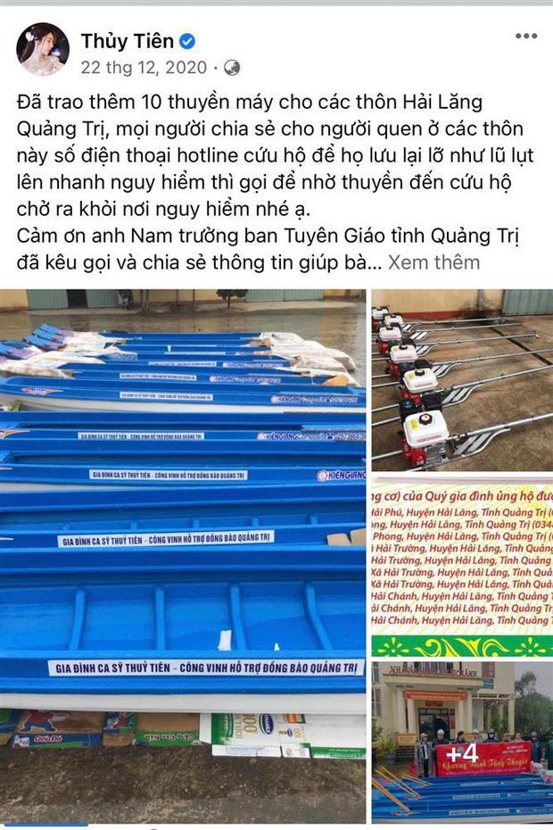 Netizen tranh cãi hình ảnh Thuỷ Tiên tặng thuyền máy cứu trợ miền Trung nhưng chỉ ghi tên 2 vợ chồng, phía chính chủ nói gì? - Ảnh 5.