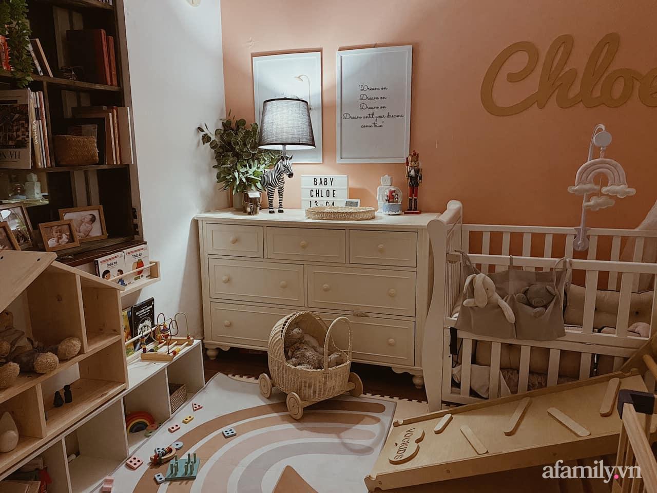 Không gian mẹ trang trí tặng bé ấn tượng với sắc màu Vintage ở Hà Nội - Ảnh 2.