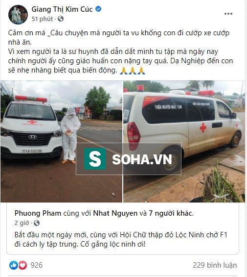 Giang Kim Cúc bị tố cướp xe cứu thương: Đại chiến giữa hai nhóm từ thiện 0 đồng nổi tiếng - Ảnh 1.