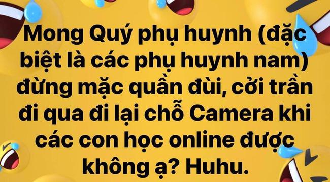 Con đang học online thì ông bố lướt qua camera, cô giáo xem xong đỏ mặt tía tai  - Ảnh 1.