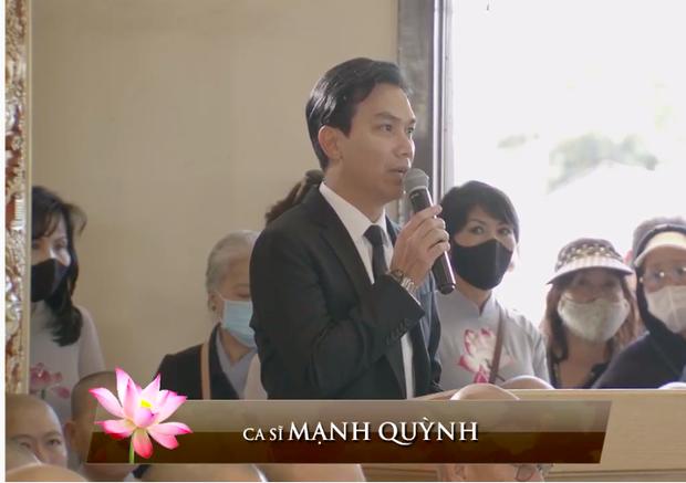 Mạnh Quỳnh nghẹn ngào trong tang lễ của Phi Nhung: Có người nói Nhung bỏ Wendy mà đi nuôi người khác, sai lầm - Ảnh 3.