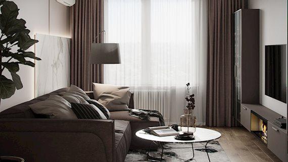 Tư vấn thiết kế căn hộ 54m² với tổng chi phí 83 triệu đồng